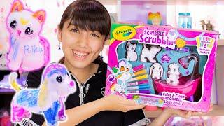 クレヨラ カラフル my ペット シャワーでおせわセット!水で色がおちる?!超可愛いお絵かきペットを紹介!